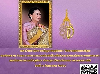 16:05 Netdao Dao Yooyong รูป 16:05 Netdao Dao Yooyong Suan Sunandha Rajabhat University invites you to join in offering online blessing on the auspicious occasion of Her Majesty Queen Suthida Bajrasudhabimlalakshana's birthday on 3 June 2021,